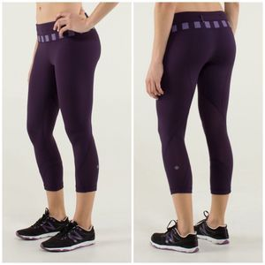 LULULEMON run inspire crop II deep Zinfandel 6